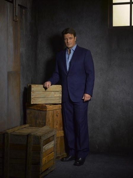Nathan Fillion as Richard Castle at Meet the Cast of CASTLE on ABC!