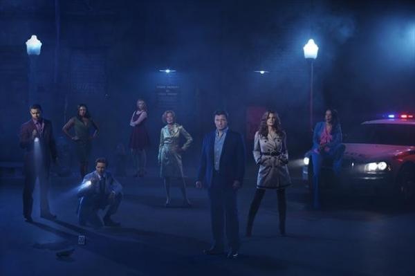 Stars Jon Huertas as NYPD Detective Javier Esposito, Tamala Jones as Medical Examine Photo