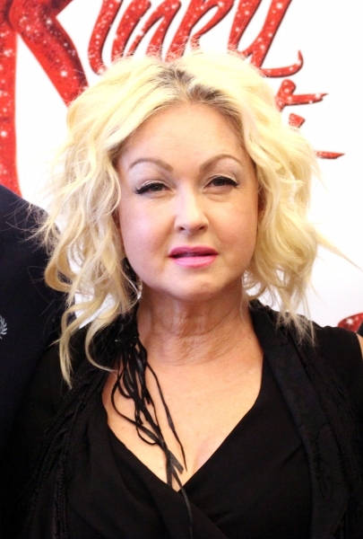 Cyndi Lauper at Harvey Fierstein, Cyndi Lauper and the KINKY BOOTS Cast Meet the Press - Check it Out!