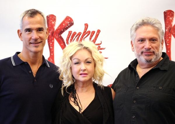 Director Jerry Mitchell, Cyndi Lauper (Music) & Harvey Fierstein (Book) at Harvey Fierstein, Cyndi Lauper and the KINKY BOOTS Cast Meet the Press - Check it Out!