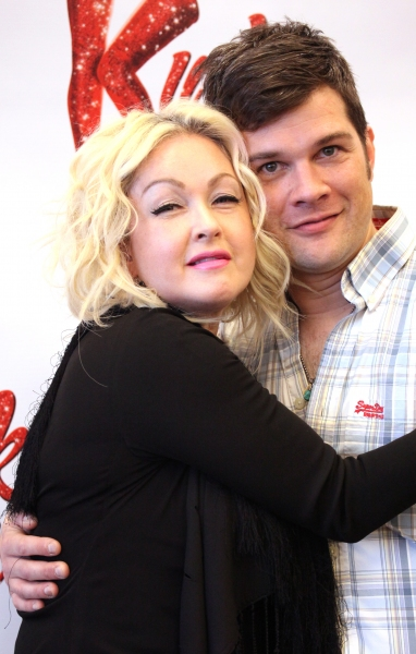 Cyndi Lauper & Stephen Oremus at Harvey Fierstein, Cyndi Lauper and the KINKY BOOTS Cast Meet the Press - Check it Out!