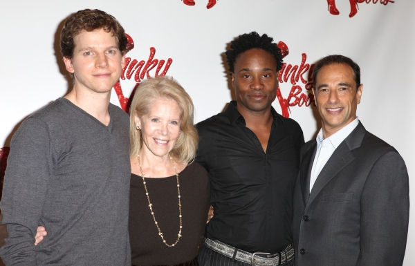 Producer Daryl Roth, Peter Starks, Billy Porter & Producer Hal Luftig at Harvey Fierstein, Cyndi Lauper and the KINKY BOOTS Cast Meet the Press - Check it Out!