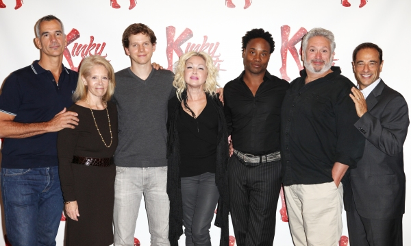 Director Jerry Mitchell, Producer Daryl Roth, Peter Starks, Cyndi Lauper (Music), Billy Porter, Harvey Fierstein (Book) & Producer Hal Luftig at Harvey Fierstein, Cyndi Lauper and the KINKY BOOTS Cast Meet the Press - Check it Out!