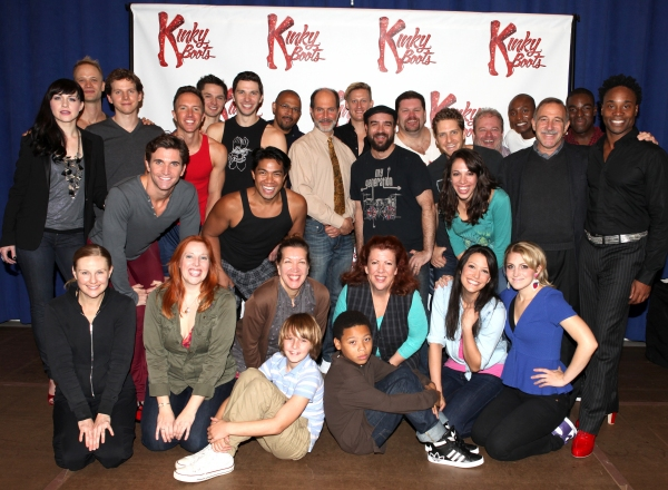 Celina Carvajal, Peter Starks, Billy Porter & Annaleigh Ashford with the Company of 'Kinky Boots'  at Harvey Fierstein, Cyndi Lauper and the KINKY BOOTS Cast Meet the Press - Check it Out!