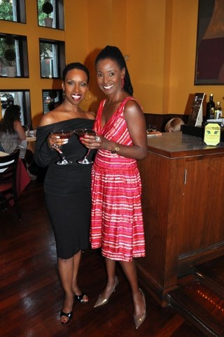 Brenda Braxton and B Smith  at COUGAR THE MUSICAL's 'Cougartini' Added to B. Smith's Broadway Drink Menu