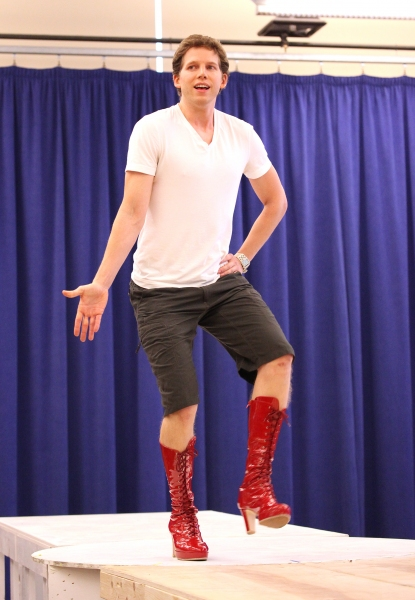 Stark Sands at Extra Fierce KINKY BOOTS Press Preview - Cyndi Lauper, Harvey Fierstein, Stark Sands, Billy Porter & More!