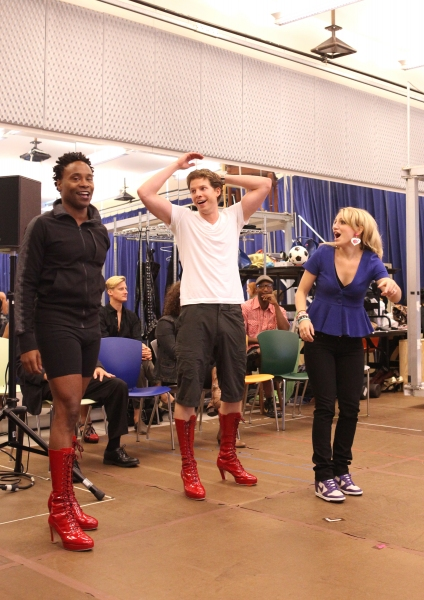 Billy Porter & Stark Sands & Annaleigh Ashford at Extra Fierce KINKY BOOTS Press Preview - Cyndi Lauper, Harvey Fierstein, Stark Sands, Billy Porter & More!