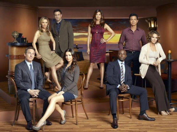 ABC's 'Private Practice' stars Brian Benben as Dr. Sheldon Wallace, KaDee Strickland as Dr. Charlotte King, Paul Adelstein as Dr. Cooper Freedman, Caterina Scorsone as Dr. Amelia Shepherd, Kate Walsh as Dr. Addison Forbes Montgomery,  Taye Diggs as Dr. Sa at The Cast of ABC's PRIVATE PRACTICE!