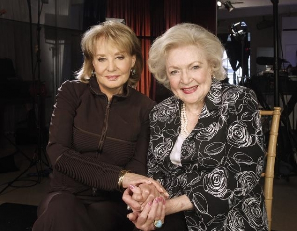 BARBARA WALTERS with TV legend BETTY WHITE (ABC/ DONNA SVENNEVIK) at Best in TV: The Greatest TV Shows of All Time Hosted by Barbara Walters
