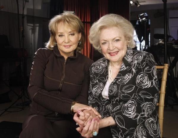 BARBARA WALTERS with TV legend BETTY WHITE (ABC/ DONNA SVENNEVIK)