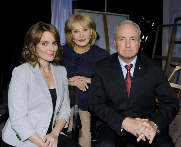 TINA FEY, BARBARA WALTERS, LORNE MICHAELS (ABC/ DONNA SVENNEVIK) at Best in TV: The Greatest TV Shows of All Time Hosted by Barbara Walters