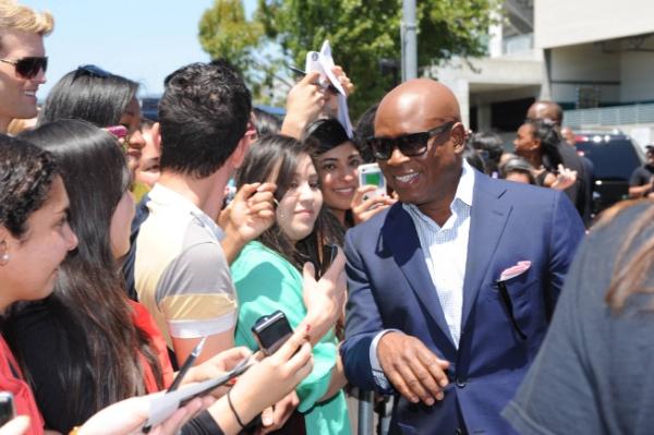 L.A. Reid meets fans