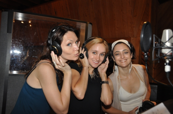 Katrina Lenk, Cassandra Taylor and Diana Calderazzo at Exclusive Photos: SPIDER-MAN Cast Records 'Carols For A Cure'
