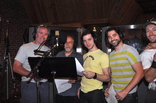 Timothy Shew, George Lee Andres, Jason Lee Garrett, Daniel Torres and Colin Cunliffe at Photo Exclusive: Michael Cerveris, Elena Roger, Max von Essen and EVITA Cast Sing 'Carols For A Cure'