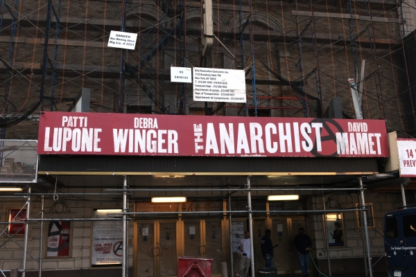Photo Coverage: THE ANARCHIST Marquee and Golden Theatre Renovation