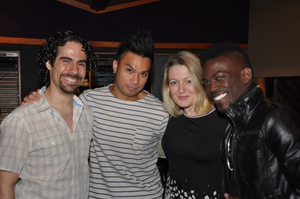 Alex Lacamoire (Musical Director), Andros Rodriguez (Engineer), Lynn Pinto (Producer) and Will Wells