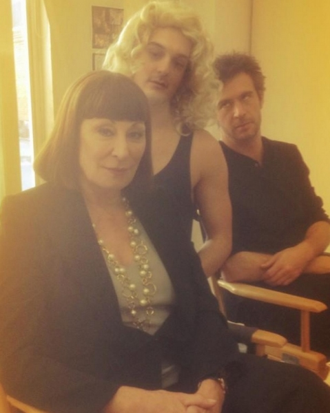 Anjelica Huston, Wesley Taylor, Jack Davenport at Twitter Watch: Wesley Taylor Creeps on SMASH Set