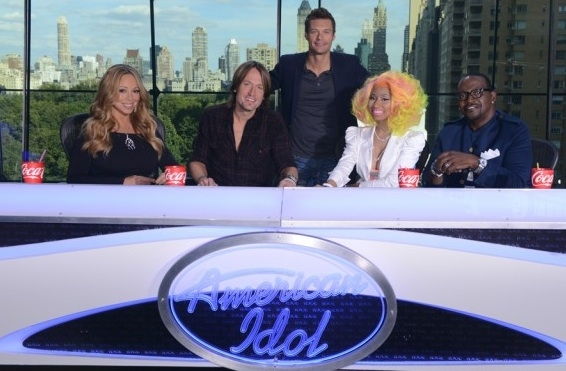 Mariah Carey, Keith Urban, Ryan Seacrest, Nicki Minaj, Randy Jackson at First Look at AMERICAN IDOL's New Judges!