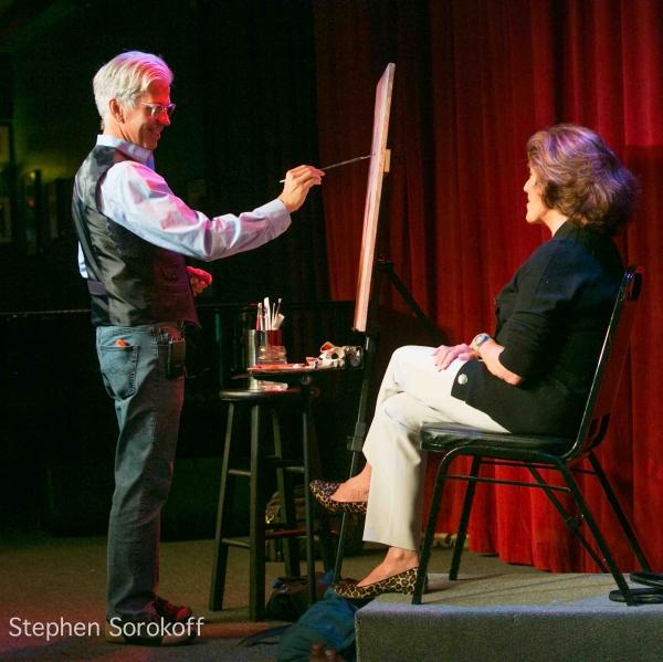 Photo Flash: Steve Bakunas Paints Linda Lavin for 'Portrait of an Artist'