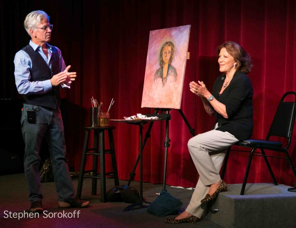 Photo Flash: Steve Bakunas Paints Linda Lavin for 'Portrait of an Artist'