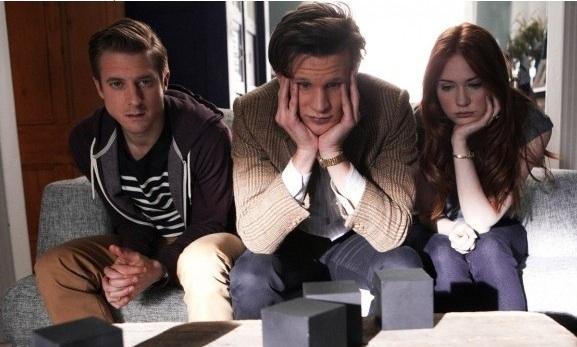 Matt Smith, Karen Gillan at 'Power of Three' Episode of BBC's DR. WHO