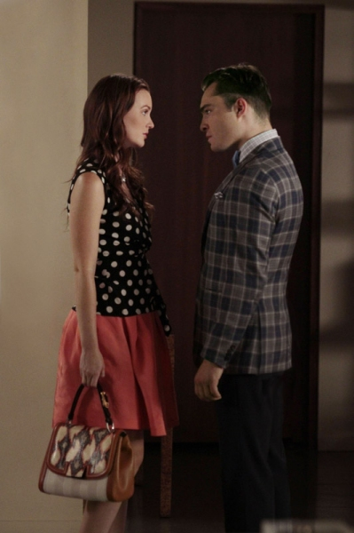 Leighton Meester as Blair Waldorf and Ed Westwick as Chuck Bass