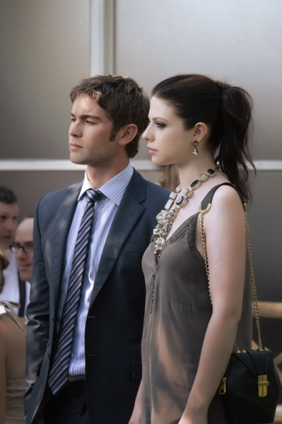 Chace Crawford as Nate Archibald and Michelle Trachtenberg as Georgina Sparks at First Look at the Season Premiere of GOSSIP GIRL - Gone Maybe Gone 10/8
