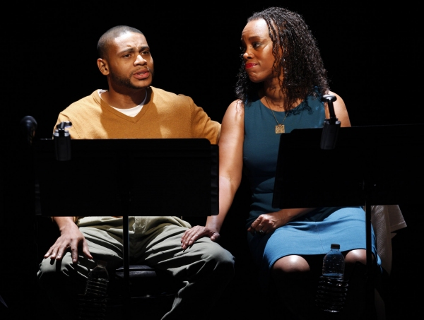 JD Williams and April Yvette Thompson at First Look at Stockard Channing, Brian Dennehy and More in Culture Project's THE EXONERATED