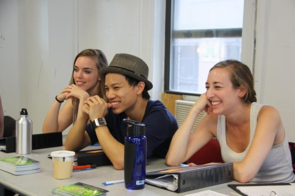 Grace Freeman, Tony Vo, Molly Bier at Joshua Henry's AMIGO DUENDE in Rehearsal