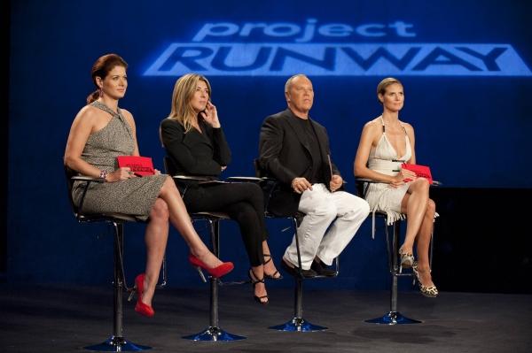 Guest judge Debra Messing, Nina Garcia, Michael Kors and Heidi Klum at Sneak Peek at PROJECT RUNWAY on Thursday, September 20 - Debra Messing, The Rockettes & More!