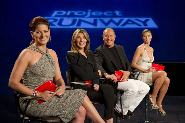 Guest judge Debra Messing, Nina Garcia, Michael Kors and Heidi Klum at Sneak Peek at PROJECT RUNWAY on Thursday, September 20 - Debra Messing, The Rockettes & More!