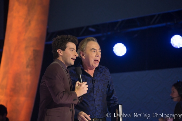 Daryn Jones and Lord Andrew Lloyd Webber at Andrew Lloyd Webber Comes to Toronto for OVER THE RAINBOW