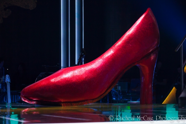 Giant Ruby Slippers Adorn the Stage