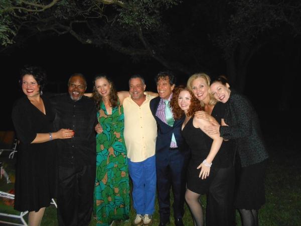The Company: Leanne Borghesi, Ken Prymus, Jessica Burrows, Michael Bush, Jonathan Brielle, Brittney Lee Hamilton, Marcy McGuigan and Veanne Cox