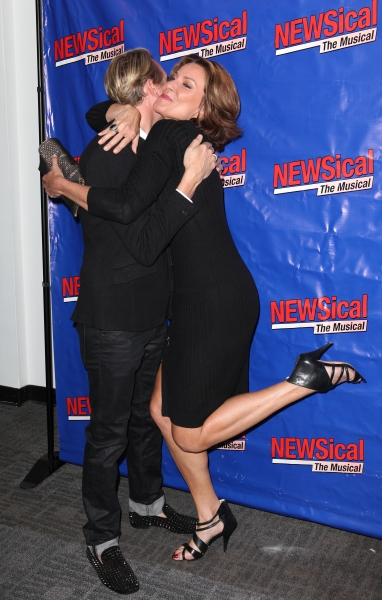 Carson Kressley & LuAnn De Lesseps at Perez Hilton Opens in NEWSical The Musical