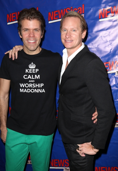 Perez Hilton & Carson Kressley  at Perez Hilton Opens in NEWSical The Musical