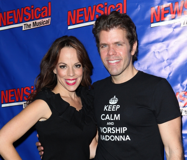 Leslie Kritzer & Perez Hilton at Perez Hilton Opens in NEWSical The Musical