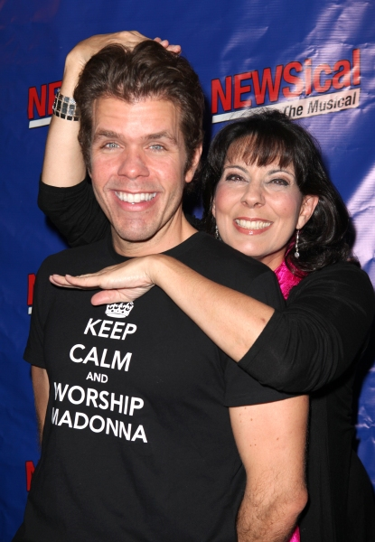 Christine Pedi & Perez Hilton at Perez Hilton Opens in NEWSical The Musical