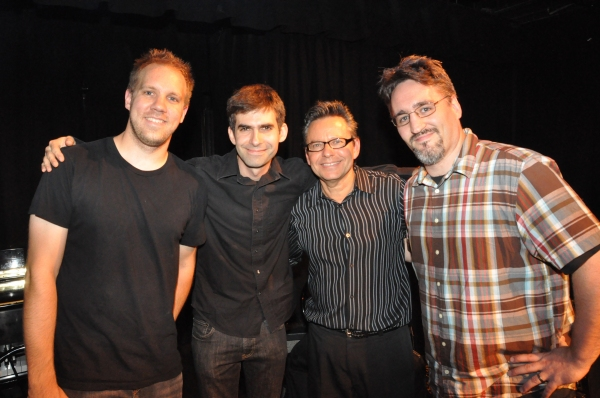 The band-JoeChoroszewski (drums), Rob Jost (Bass), Brian Koonin (Guitar) and Jason Loffredo (Piano and Musical Director)