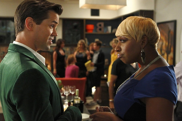 Andrew Rannell, NeNe Leakes at Rannells, Barkin in NEW NORMAL's 'Obama Mama' Episode