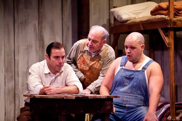 James Hipp as George, Jeff Rossman as Candy, and Alex Echevarria as Lennie