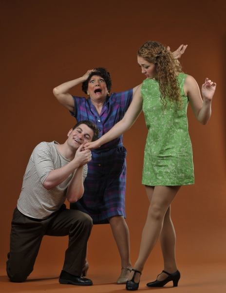 Young lover Roberto (Stewart Kramer), to the consternation of Rosa (Darlene Popovic), Photo