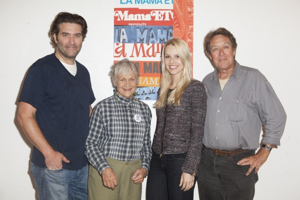 Craig Bierko, Estelle Parsons, Gia Crovatin and Larry Pine at In Rehearsal with Estelle Parsons & Craig Bierko for AdA