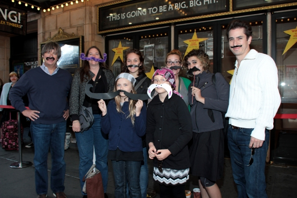 Dave Barry and Matthew Saldivar with Stache Day winners Photo