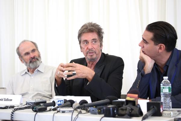 Director Daniel Sullivan, Al Pacino, Bobby Cannavale at Meet The Cast of GLENGARRY GLEN ROSS- Al Pacino, Bobby Cannavale and More!