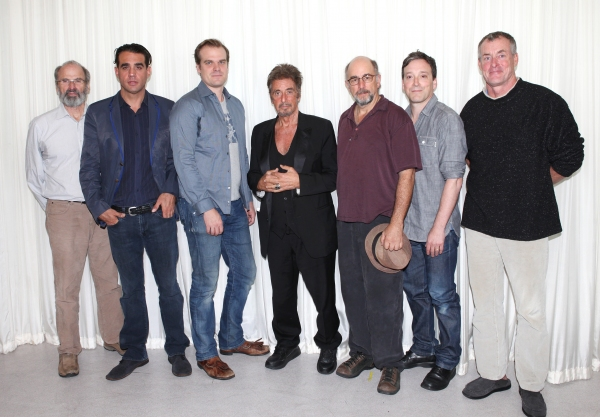 Director Daniel Sullivan, Bobby Cannavale, David Harbour, Al Pacino, Richard Schiff, Jeremy Shamos & John C. McGinley