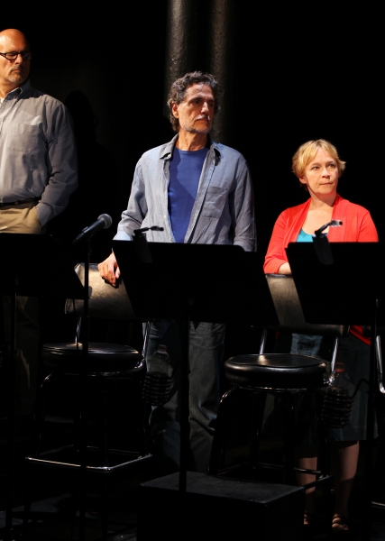 Bruce Kronenberg, Chris Sarandon & Amelia Campbell at Inside Opening Night of THE EXONERATED- Curtain Call!