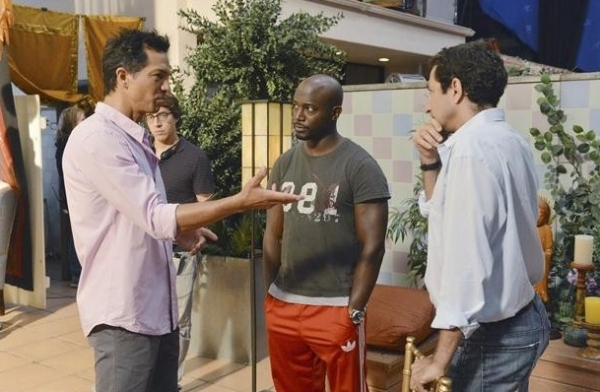 BENJAMIN BRATT, TAYE DIGGS, EDWARD ORNELAS (director) at Behind-the-Scenes Look at ABC's PRIVATE PRACTICE!