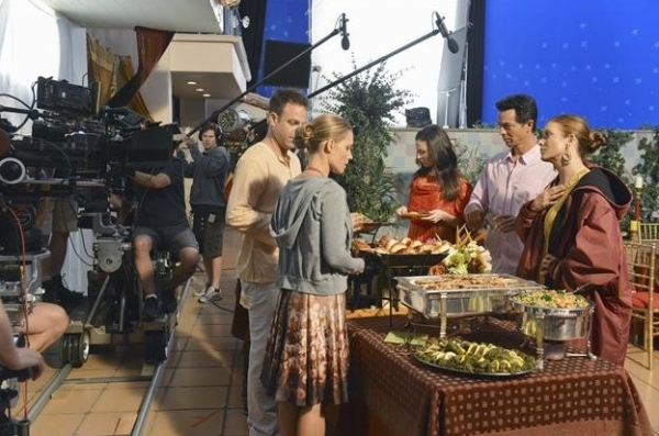 PAUL ADELSTEIN,KADEE STRICKLAND, CATERINA SCORSONE, BENJAMIN BRATT, KATE WALSH at Behind-the-Scenes Look at ABC's PRIVATE PRACTICE!