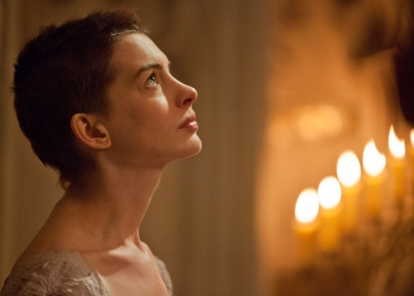 Anne Hathaway at Check Out the Latest LES MISERABLES Film Stills Featuring Anne Hathaway, Samantha Barks and More!